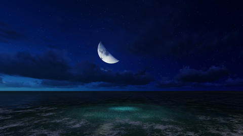 moonlit night on a sea made in lumion software Animation