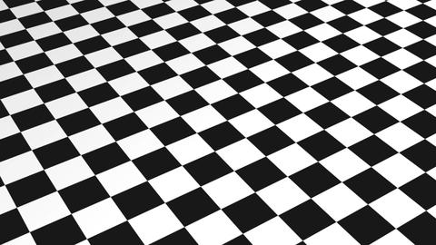 Checkered Motion Background made in AEcs5 in black and white Animation