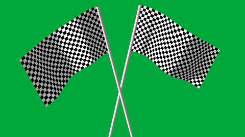 checkered black and white F1 flags Animation