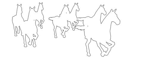 horses galloping - separated on white screen Animation