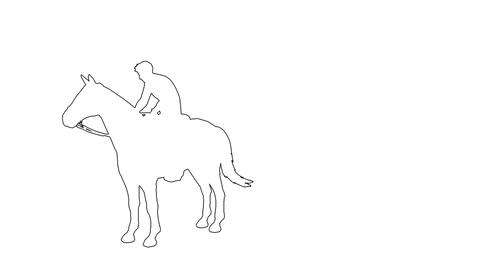 man galloping - seperated on white background Animation