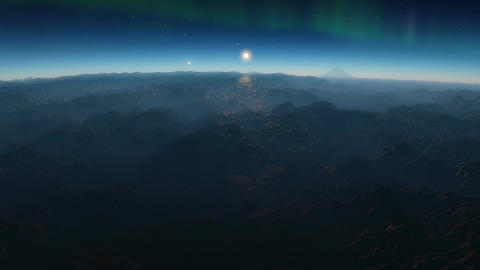 No Mans Land - A flythrough animation featuring a volcanic exoplanet with the ma Animation
