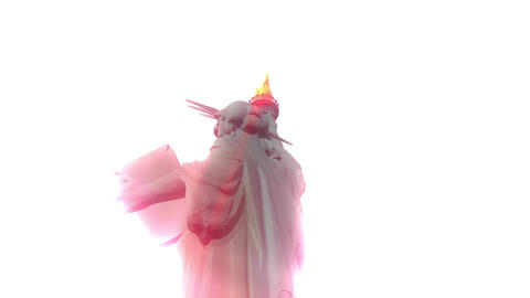 Digital Animation of the Statue of Liberty CG動画素材