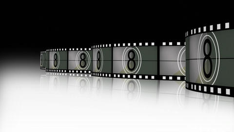 Animation of a film reel announcing a movie Footage