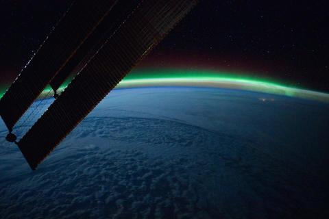 Ungraded: Aurora Borealis Over North Atlantic Ocean Footage