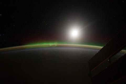 Ungraded: Aurora Borealis Over Atlantic Ocean Footage