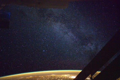 Ungraded: Stars and Milky Way Over Atlantic Footage