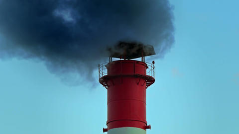 1080p Chimney Smoke / Smoke Stack / Air Pollution Footage