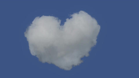 Real Heart Shaped Cloud Not CGI Footage