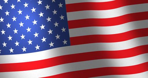 Flag United States moving wind Animation