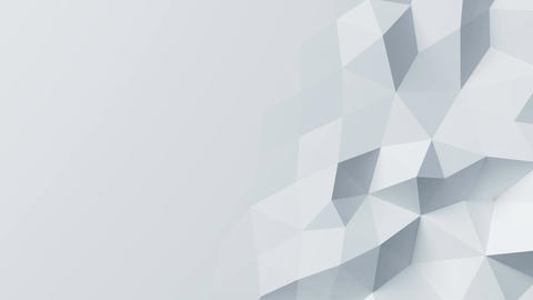 Beautiful White Polygonal Wall Morphing in Looped Abstract 3d Animation. Seamles Animation