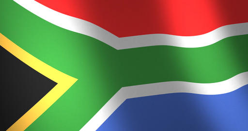 Flag South Africa moving wind Animation