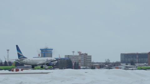Boeing 737-86N VQ-BMP approaching in Tolmachevo Airport in Novosibirsk, Russian  Footage