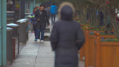 Pedestrian on Nanjing Road, Shanghai Footage