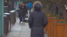 Pedestrian on Nanjing Road, Shanghai Footage