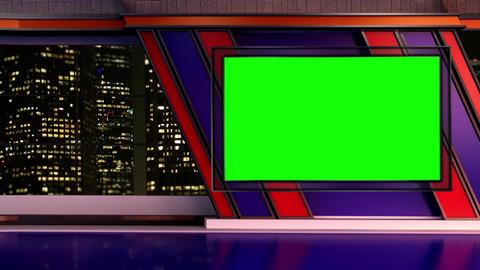 News TV Studio Set 251- Virtual Background Loop ライブ動画