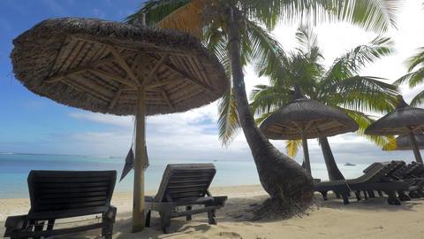 Summer resort on the coast in tropics Footage