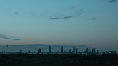 Timelapse of evening and night in Frankfurt, Germany Footage