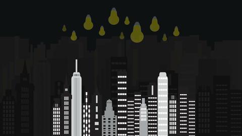 4k City time night Animation