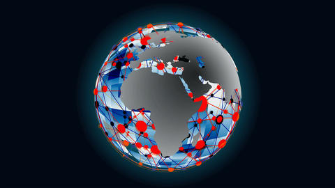 Global communications Animation