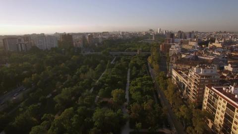 Aerial panorama of Valencia, Spain Footage