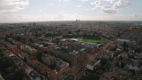 Panorama of Amsterdam, aerial view Footage