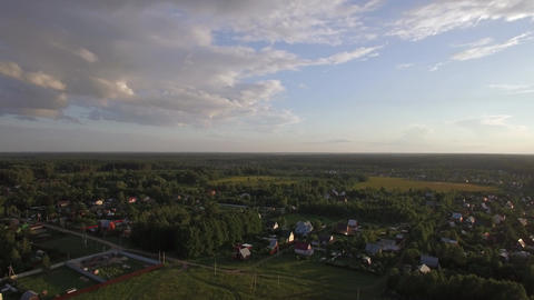 Russian countryside in summer, aerial view Live Action
