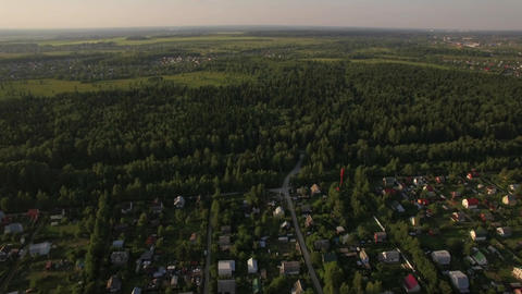 Countryside landscape in Russia, aerial view Live Action