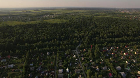 Countryside landscape in Russia, aerial view Footage