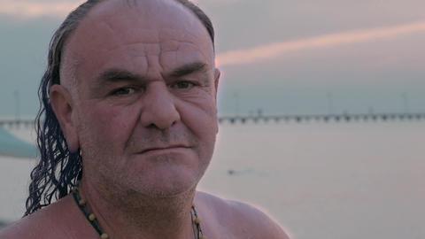 Portrait of senior man outdoor Footage
