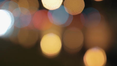 Bokeh background of night city and transport lights Footage
