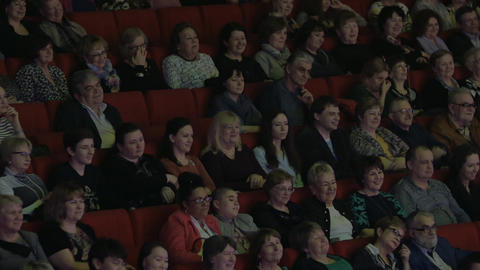 Satisfied audience in the movie theatre Footage