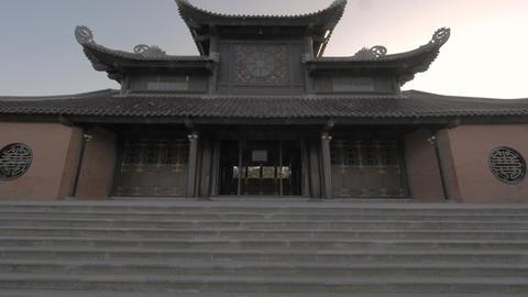 Buddhist pagoda in Bai Dinh Temple, Vietnam ビデオ
