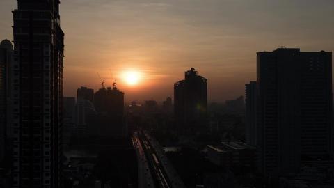 Timelapse of morning changing night in Bangkok, Thailand Footage