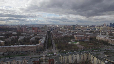 Moscow cityscape, aerial view Footage