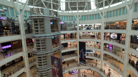 Timelapse of Suria KLCC shopping mall with customers Footage