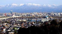 富山市俯瞰 Toyama City Tateyama mountain range DSCF5690 1 Footage