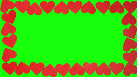 Heart Shape on a Green Screen Footage