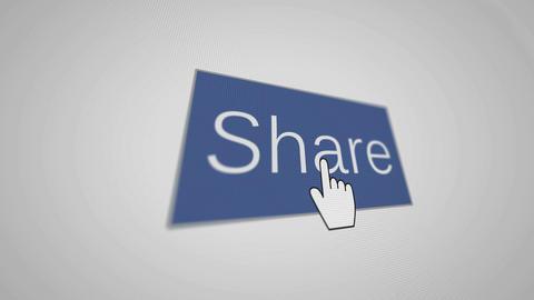 Share and hand cursor Animation
