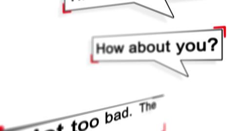 Conversation concept. Online chat Animation