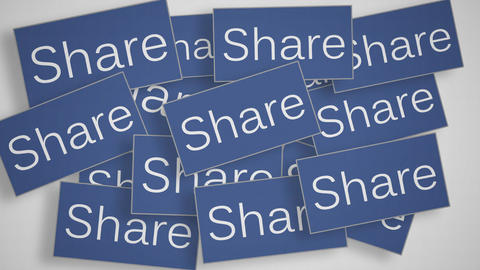 A lot of Share buttons Animation