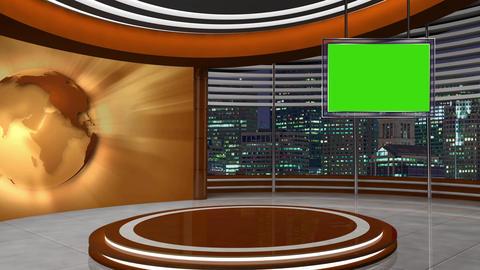 News TV Studio Set 253- Virtual Background Loop ライブ動画