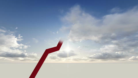 Sky high chart made in 3d software Animation