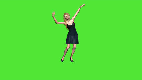 graceful dance on green screen Animation