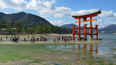 Shrine Monument Miyajima Itsukushima Shrine In The Sea Japan Asia GIF