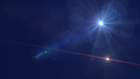 4K Abstract Motion Background With Lens Flares Animation