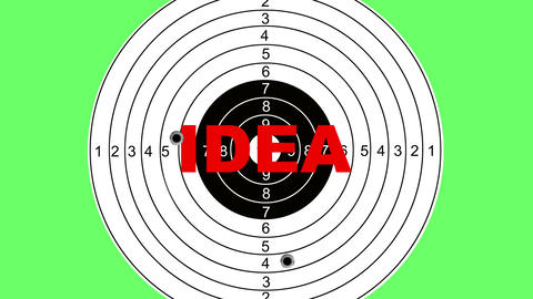 Shooting target with word idea Animation