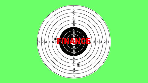 Shooting target with word finance Animation