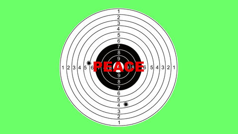 Shooting target with word peace Animation