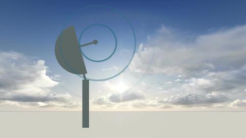 rotating Radio telescope Stock Video Footage